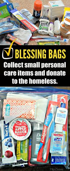 how to assemble blessing bags for homeless people as a group top