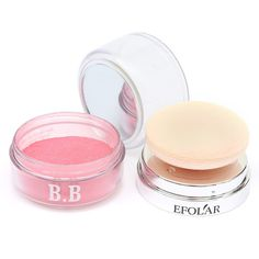 5 Colors EFOLAR Bright Blush BB Cream Makeup Blusher Mineral Powder... (12 BRL) ❤ liked on Polyvore featuring beauty products, makeup, newchic and mineral powder makeup