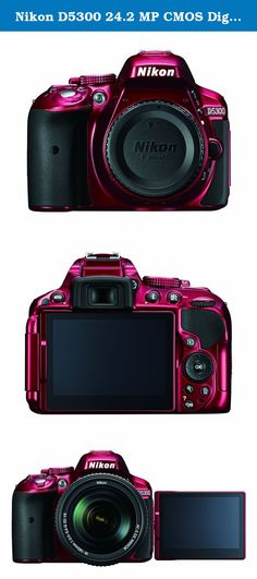 Nikon D5300 24.2 MP CMOS Digital SLR Camera with Built-in Wi-Fi and GPS Body Only (Red). Dazzling image quality meets modern connectivity with built-in Wi-Fi for instant photo sharing and remote camera control and built-in GPS with mapping for geotagging and tracking your adventures. An innovative new 24.2-megapixel image sensor captures the purest, most lifelike photos and 1080p Full HD videos imaginable, and a brilliant 3.2-inch swiveling Vari-angle display delivers beautiful views from...