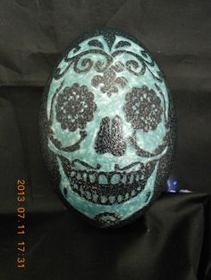 Day of the Dead Carved Emu Eggs Home/Holiday by FarmFresh2FineArt, $78.05