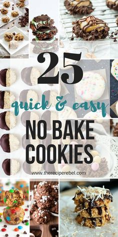 These No Bake Cookies recipes are all you need for summer! They are quick, easy, and no need to turn on the oven when the sun is shining! No Bake Oatmeal Cookies, No Bake Peanut Butter Cookies…More Oatmeal No Bake Cookies, Easy No Bake Cookies, Chocolate No Bake Cookies, Chocolate Oatmeal, Cookies For Kids, Chocolate Recipes, Mint Chocolate, Candy Cookies, Healthy Cookies