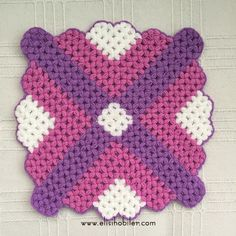 Basit Kare Lif #lif #knitting #ceyiz #örgü #elisi #hobi