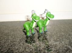 Disney Toy Story Rex dangle earrings by simplyproducts on Etsy, $10.00
