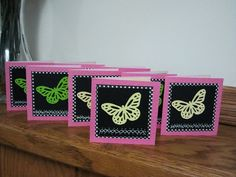 Butterfly 3 x 3 Cards  Set of 8 by BitsNPiecesGifts on Etsy, $4.00
