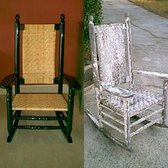 This  Brumby Porch Rocking Chair Was Restored To Brand New At The Brumby Chair Company