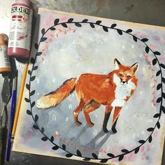 Fox! Can't believe I was actually able to start and finish this today. Part of it was done with a baby on my lap, holding him with one arm and painting with the other! I think he liked it. :) Fox is about invisibility, adaptability, awareness of your surroundings, and sure-footedness. Fox is also a good protector of the family unit. Day 3 of my #dailyanimalart and going strong! #paintingaday #sketchbook #jessicaswift #fox #foxart