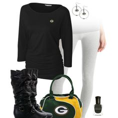 Green Bay Packers Leggings Outfit