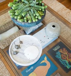 Reading Room Tablescape - San Clemente Beach House by Orlando Soria