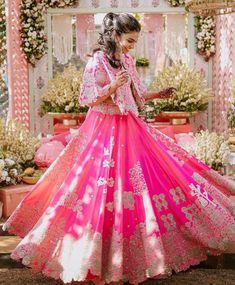 Sweet Sixteen Dresses, Sweet 16 Dresses, Indian Bridal Outfits, Indian Fashion Dresses, Pink Lehenga, Bridal Lehenga, Bridal Looks, Bridal Style, Neon Outfits