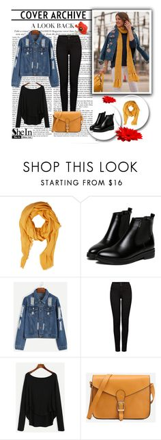 """SheIn 1/I"" by hedija-okanovic ❤ liked on Polyvore featuring MELLOW YELLOW, Violeta by Mango, WithChic, J Brand and shein"
