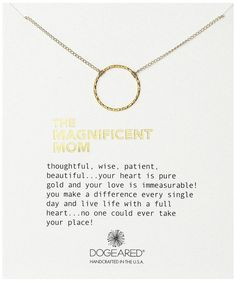 "Amazon.com: Dogeared The Magnificent Mom Little Sparkle Karma Gold Dipped Chain Necklace, 18"": Clothing"