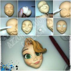 """Rapunzel tutorial"" series... #4: FACE... - CakesDecor"