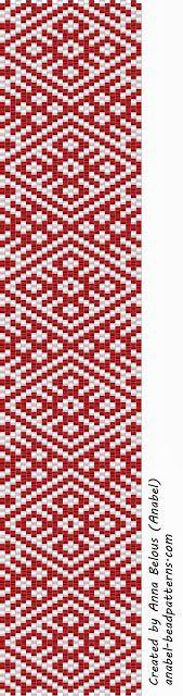 Две схемы браслетов - славянские узоры - мозаика