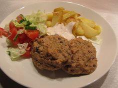 Marikkas vegetariska: Vegobiffar - bönbiffar med kikärtor och kidneybönor