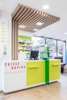 Home Interior Design, Interior Decorating, Store Interiors, Gas Station, Retail Design, Store Design, Table And Chairs, Pharmacy, Wood Art