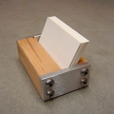 Checkout this amazing product USA Made Business Card Holder, Light Recycled Wood,$27