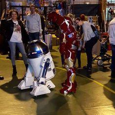 Dimanche à la Turretot Geek Convention, 2ème édition. Super sympa !   #turretotgeekconvention #turretot #geekconvention #geek #ironman #r2d2 #starwars #anvengers  @iron_man_76_leh