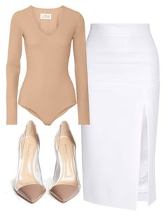 """Untitled #31"" by breannabullert on Polyvore featuring Cushnie Et Ochs, Maison Margiela, Gianvito Rossi and kimkardashian"