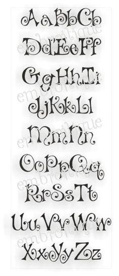 Monogram Sets - Bows Embroidery Alphabet Monogram Set for only 7.99 !!!