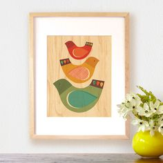 Partridge Party Wood Print | dotandbo.com