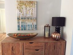 Console decorating for fall
