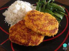 Hamburguesas de Calabaza - Receta FÁCIL y SANA Burger Recipes, Veggie Recipes, Healthy Recipes, Avocado Salat, Le Chef, Food Categories, Vegan Dishes, Nutritious Meals, Vegetarian Recipes