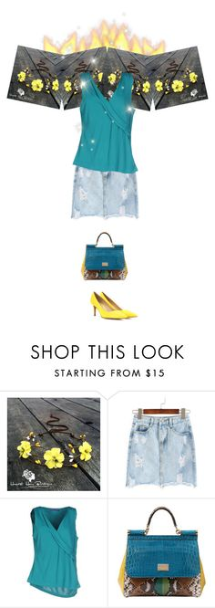 """""""Street style"""" by janemichaud-ipod ❤ liked on Polyvore featuring Blue Les Copains, Dolce&Gabbana and Gianvito Rossi"""