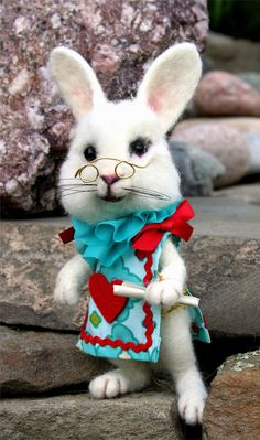 Hey, I found this really awesome Etsy listing at https://www.etsy.com/listing/201383639/alices-wonderland-white-rabbit-teal