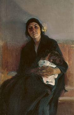 Aurelia as a young woman with her grandson Pablo Woman Painting, Figure Painting, Painting & Drawing, Spanish Painters, Spanish Artists, Claude Monet, Valencia, Francisco Goya, Art For Art Sake
