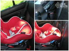 If your child's seat is installed using lower anchors and the seat belt is within their reach, it poses the risk of strangulation if the child begins to play with it, particularly if your seat belt has a switchable locking retractor. Remember to buckle the seat belt before or after installation (just tuck it between the vehicle seat back and the car seat, don't thread it in the belt path) and engage the locking mode by slowly pulling the seat belt all the way out.  www.csftl.org