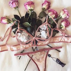 In full bloom Shop Darla Underwire Bra and Thong with link in bio. #ForLoveAndLemons #DownToYourSKIVVIES