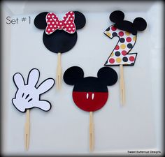 Mickey Mouse Club House Party Toppers by SBCDesign on Etsy, $13.50