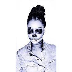 #skullmakeup #skullgang #halloween #beauty #cosmetics #mua #makeupartist #makeup #fun #like4like #undiscovered_mua #undiscovered_muas #udmhalloween