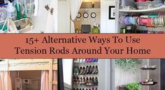 Alternative Ways To Use Tension Rods Around Your Home