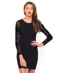 Motel Yoko Mesh Sleeve Dress in Black Flower, TopShop, ASOS, House of Fraser, Nasty gal