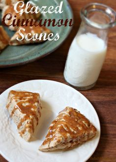 Glazed Cinnamon Scones on MyRecipeMagic.com