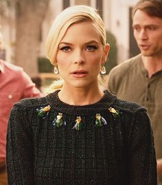Lemon's green bug embellished sweater on Hart of Dixie Hart Of Dixie, Fashion Tv, Autumn Fashion, Fashion Outfits, Jamie King, Victoria Secret Outfits, Capsule Wardrobe, Cute Outfits, Style Inspiration