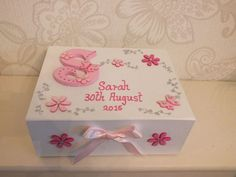 Children and Young Personalised Christening Gifts, Baby Christening Gifts, Christening Decorations, Memories Box, Baby Memories, Baby Keepsake, Keepsake Boxes, New Baby Crafts, Diy Baby Gifts