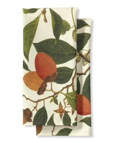Botanical Persimmon Towels Set  by Williams-Sonoma