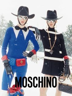 Snow Bunnies – Moschino once again enlists Juergen Teller to capture its fall 2012 campaign, this time starring Ophelie Rupp and Ymre Stiekema. Juergen Teller, Moschino, Kylie Minogue, Victoria Beckham, Madonna, Wild Style, My Style, Fashion Runway Show, Shady Lady