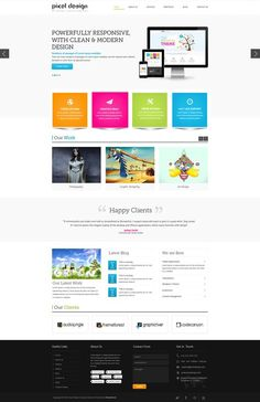 Clean colorful web design - #web
