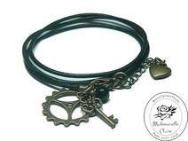 Armband echt Leder - vintage Zahnrad Claire, Etsy, Bracelets, Vintage, Jewelry, Handmade, Wristlets, Schmuck, Leather