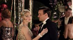 Inspired by The Great Gatsby: Decked out in sequins, Carey Mulligan makes a strong case for 20s era fashion as Daisy Buchanan.