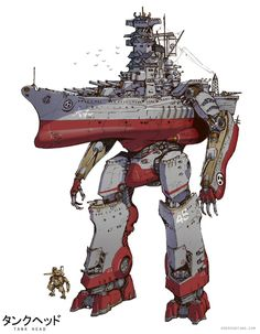 ArtStation - Great Warships of the Yamato Kingdom, Emerson Tung Arte Robot, Robot Art, Robot Concept Art, Armor Concept, Character Concept, Character Art, Character Design, World Of Warships, Gurren Laggan
