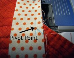 Pivot point for inverted corner @ The Crafty Quilter