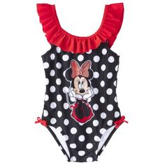 Disney® Minnie Mouse Toddler Girls' 1-Piece Swimsuit