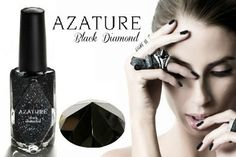DID YOU KNOW: The most expensive nail polish in the world is Azature Black Diamond Nail Polish. The ultra-luxe bottle of black nail polish contains 267 carats of black diamonds and costs $250,000. While the there will only be one bottle of the $250,000 nail polish produced, there is also a cheaper version that contains one real black diamond and retails for just $25 per bottle.