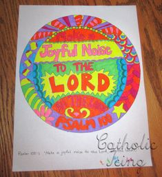 Make a Joyful Noise to the Lord- Bible Craft for Kids~ We could make instruments as well as color/paint this verse.