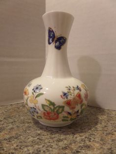 Vintage Aynsley China Cottage Garden Vase 5.25 inches tall
