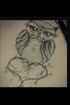 Owl tattoo sketch